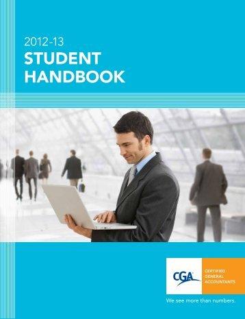 2012-13 Student handbook - Certified General Accountants of Ontario