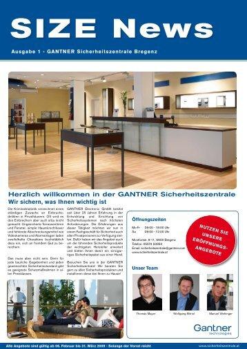 GANTNER Sicherheitszentrale Bregenz SIZE News