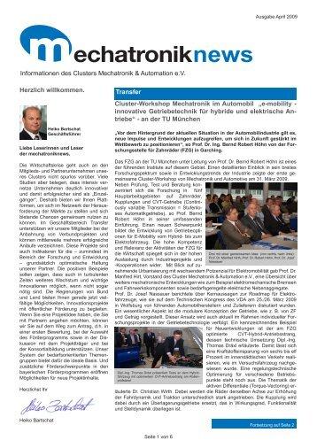 Ausgabe 04/2009 - Cluster Mechatronik & Automation