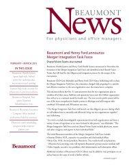 NewsBEAUMONT - Beaumont physicians