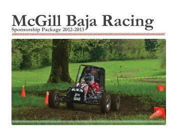 Sponsorship Package 2012-2013 - McGill Baja Racing