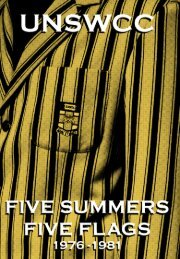 Five Summers Five Flags - University of New South Wales Cricket ...
