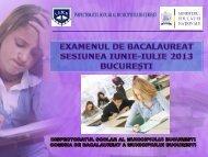 Precizari ISMB privind examenul de BACALAUREAT 2013