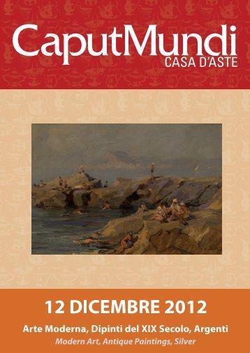Arte Moderna, Dipinti del XIX Secolo, Argenti Modern ... - CaputMundi
