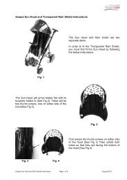 Snappi Sun Hood and Transparent Rain Shield ... - Tendercare Ltd