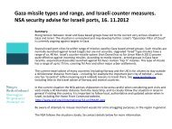 Israel, Gaza. Current security issues. November 2012 - Norges ...