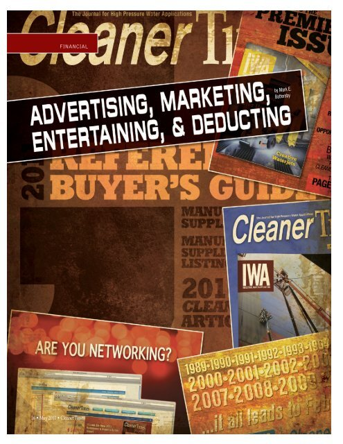 Advertising, Marketing, Entertaining, and Deducting ... - Cleaner Times