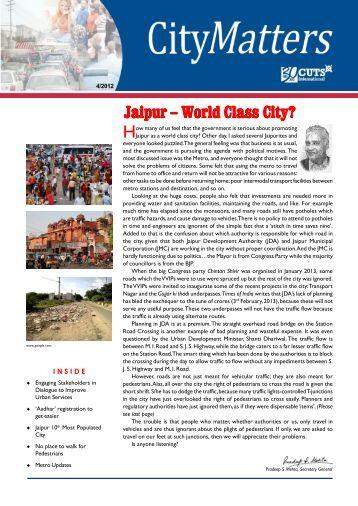 Jaipur – World Class City? - Consumer Unity & Trust Society
