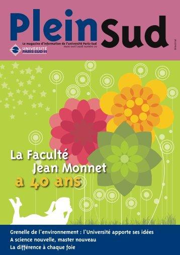 Numéro 70 - Plein Sud - Université Paris-Sud 11