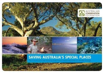 Saving Australia's special places - Australian Conservation ...