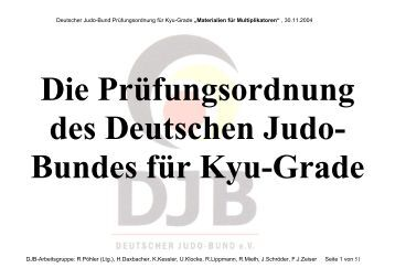 Kyu-Prüfungsordnung - Hamburger Judo-Verband e.V.
