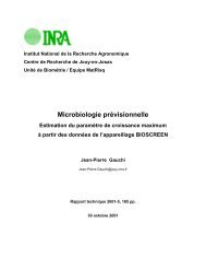Documents techniques - INRA Montpellier