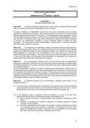 Articles of Association of Sermsuk Public Company Limited