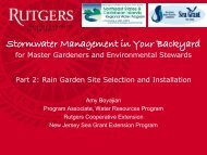 Stormwater Managment in Your Backyard Part 2 - Rutgers ...