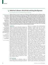 Alzheimer's disease: clinical trials and drug development