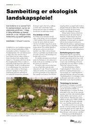 Sambeiting er økologisk landskapspleie! - Fagbladet Økologisk ...