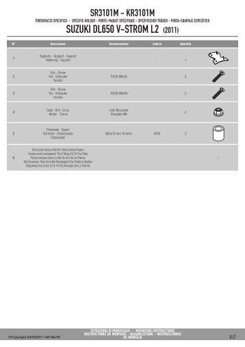 SUZUKI DL650 V-STROM L2 (2011) - Givi
