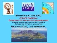 B-physics at the LHC Beyond 2010, 1 - 6 february