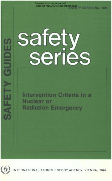 Intervention Criteria in a Nuclear or Radiation Emergency ... - gnssn