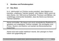 2. Atombau und Periodensystem 2.1 Das Atom Im 4. Jahrhundert vor ...