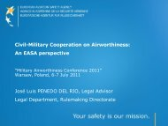 Civil-Military Cooperation on Airworthiness - European Defence ...