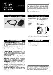 RC-28 Anleitung (pdf) - Icom