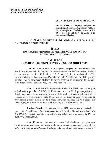 prefeitura de goiânia gabinete do prefeito a câmara municipal de ...