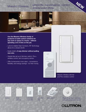 Maestro Wireless Residential and Commercial Sell Sheets
