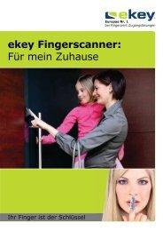 ekey Fingerscanner: Für mein Zuhause - MR Sicherheitstechnik AG