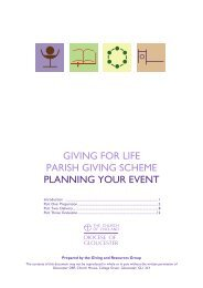 Planning your event booklet 3.02.10 - Diocese of Gloucester