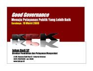 Good Governance - Departemen Kesehatan Republik Indonesia