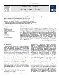 Miniemulsion vs. conventional emulsion polymerization for pressure ...