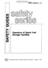 Operation of Spent Fuel Storage Facilities - gnssn - International ...