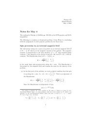 Notes for May 4 - Physics