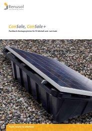 Renusol ConSole Systemübersicht - Dahlmann Solar GmbH NRW