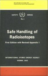 Safe Handling of Radioisotopes - gnssn - International Atomic ...