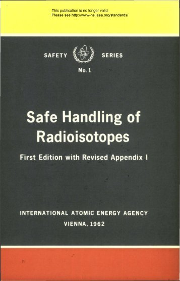 Safe Handling of Radioisotopes - gnssn - International Atomic ...