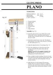 PLANO Instruction Manual - Advanced Machinery