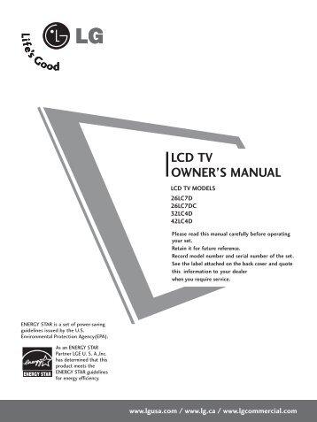 tft lcd tv dvd combo owner s manual haier america rh yumpu com Operators Manual User Manual