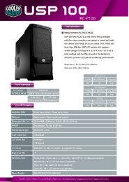 USP 100 product sheet - black - 0118.pdf - Cooler Master