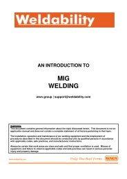 Introduction To MIG Welding - Mig Tig Arc Welding Supplies