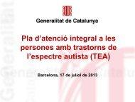 Presentació Pla TEA - Premsa - Generalitat de Catalunya