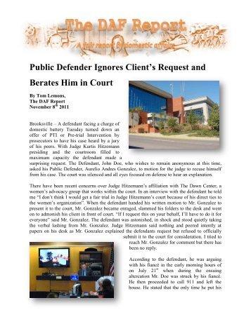 Public Defender Clients - False DVI Reports