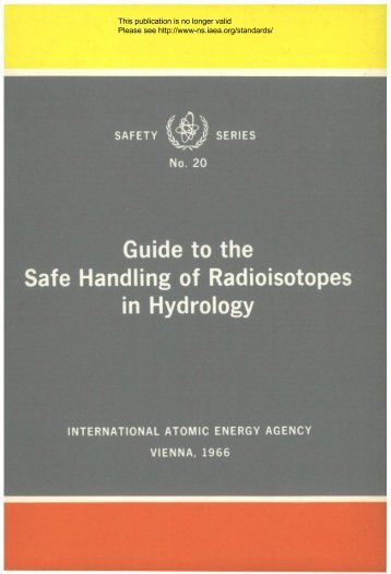Guide to the Safe Handling of Radioisotopes in Hydrology - gnssn