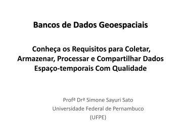 O que é Qualidade? - MundoGEO#Connect LatinAmerica 2013