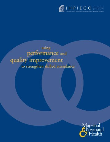 Using Performance and Quality Improvement to ... - Jhpiego