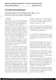 Corrosione dei calcestruzzo - DipCIA