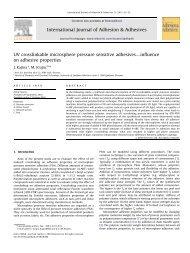 UV crosslinkable microsphere pressure sensitive adhesives ...