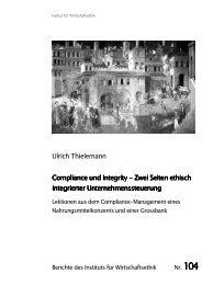 Ulrich Thielemann Compliance und Integrity Compliance und ...