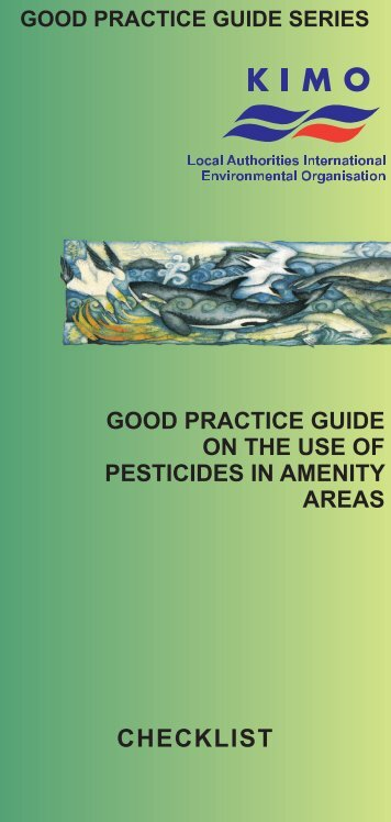 Pesticide Use in Amenity Areas Good Practice Guide- Checklist - KIMO